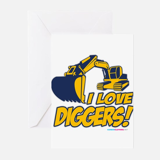 I Love Diggers! Greeting Cards (Pk of 20)