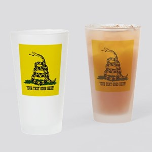 Personalized Dont Tread on Me Drinking Glass