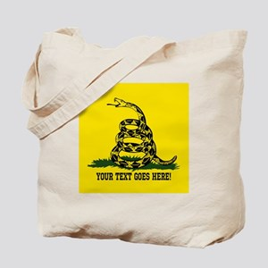 Personalized Dont Tread on Me Tote Bag