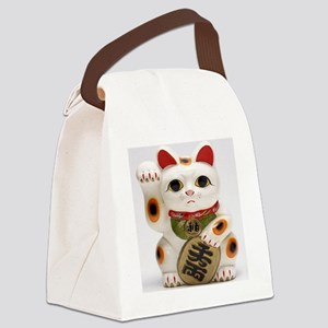 Lucky cat Canvas Lunch Bag
