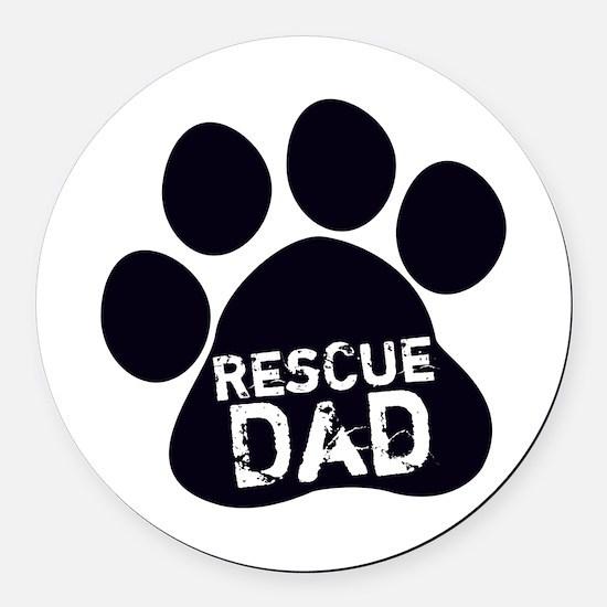 Rescue Dad Round Car Magnet