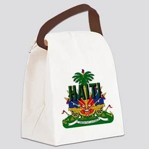 Haitian Coat of Arms Canvas Lunch Bag