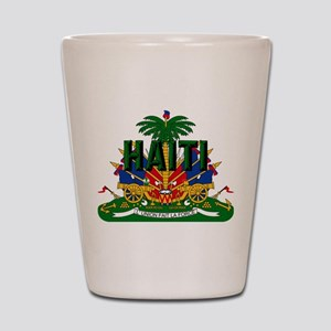 Haitian Coat of Arms Shot Glass