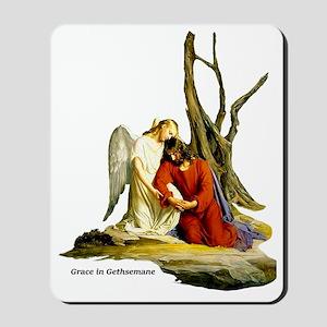 grace in gethsemane Mousepad
