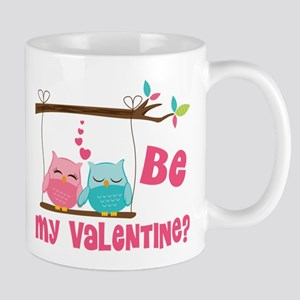 Be My Valentine Owls Mugs