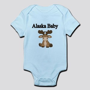 Alaska Baby. With Cute Moose Body Suit