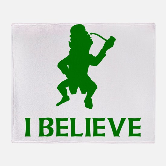 I Believe In Leprechauns Throw Blanket