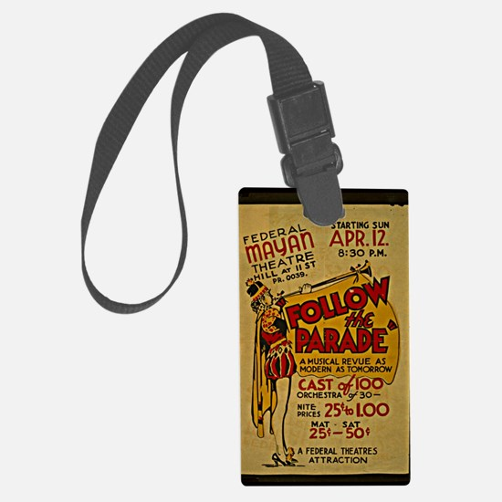 Vintage 1936, Follow the Parade, Luggage Tag