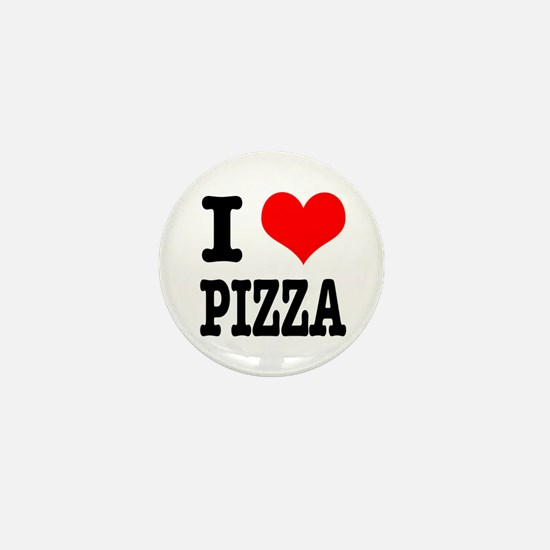 I Heart (Love) Pizza Mini Button