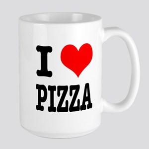 I Heart (Love) Pizza Large Mug