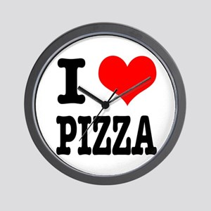I Heart (Love) Pizza Wall Clock