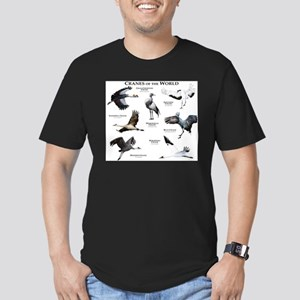 Cranes of the World Men's Fitted T-Shirt (dark)
