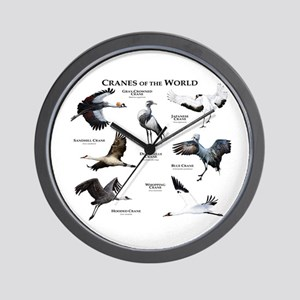 Cranes of the World Wall Clock