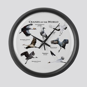 Cranes of the World Large Wall Clock