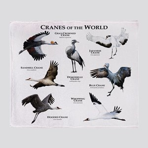 Cranes of the World Throw Blanket