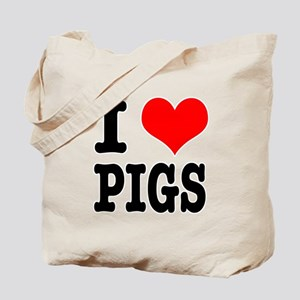 I Heart (Love) Pigs Tote Bag