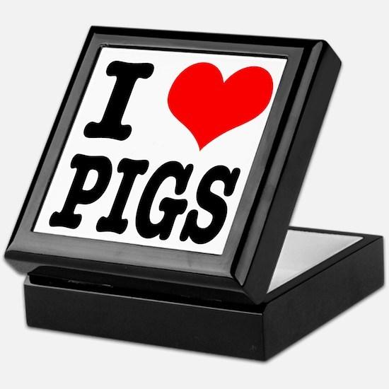 I Heart (Love) Pigs Keepsake Box