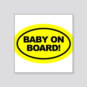 Yellow Baby on Board Car Decal Sticker