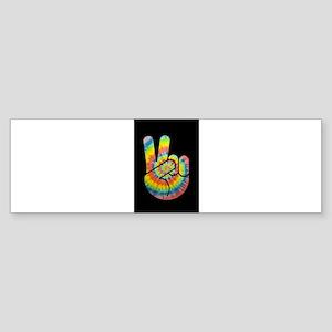 tie-dye-peace-hand-OV Bumper Sticker