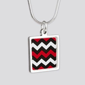 Red Hot Red Chevrons Necklaces