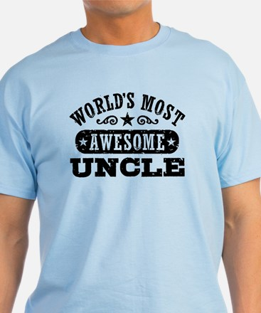 World's Most Awesome Uncle T-Shirt