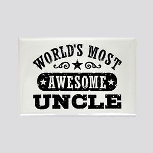 World's Most Awesome Uncle Rectangle Magnet