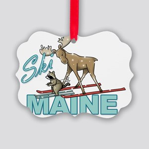 Ski Maine Picture Ornament
