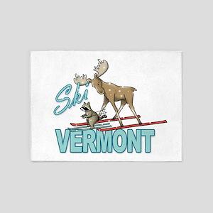 Ski Vermont 5'x7'Area Rug