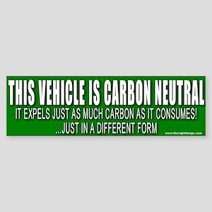 Carbon Neutral Vehicle Bumper Sticker