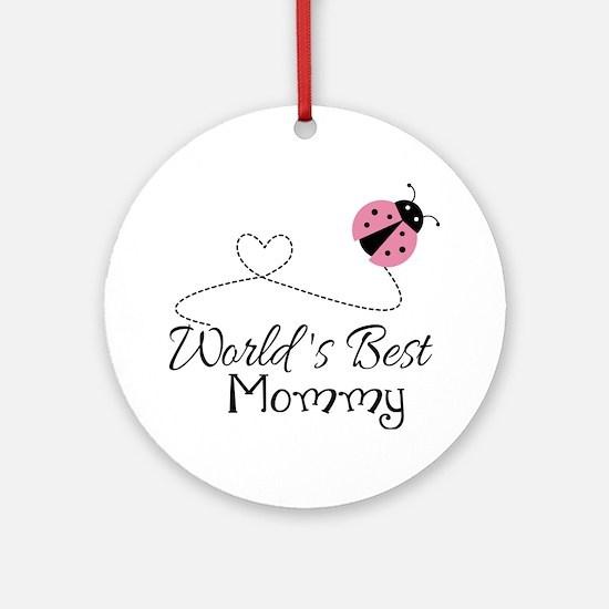 World's Best Mommy Ornament (Round)