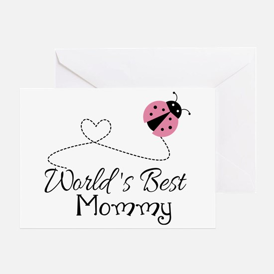 World's Best Mommy Greeting Card