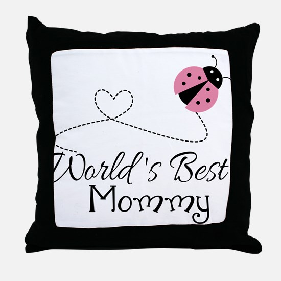 World's Best Mommy Throw Pillow