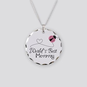 World's Best Mommy Necklace Circle Charm
