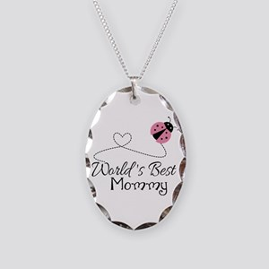 World's Best Mommy Necklace Oval Charm