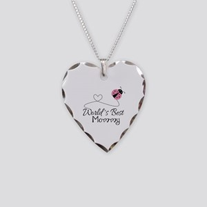 World's Best Mommy Necklace Heart Charm