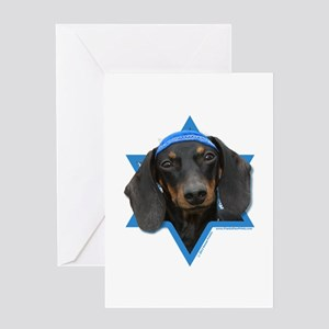 Hanukkah Star of David - Doxie Greeting Card