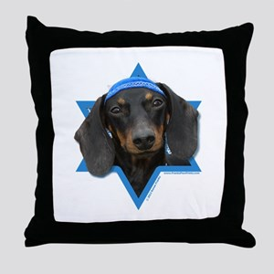 Hanukkah Star of David - Doxie Throw Pillow