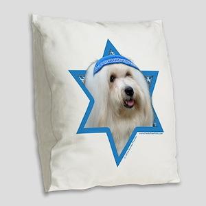 Hanukkah Star of David - Coton Burlap Throw Pillow
