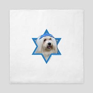 Hanukkah Star of David - Coton Queen Duvet