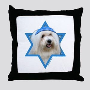 Hanukkah Star of David - Coton Throw Pillow