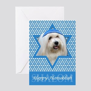 Hanukkah Star of David - Coton Greeting Card
