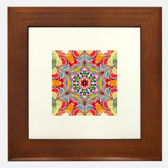 Sweets in Orbit Framed Tile