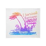 I Survived Hurricane Harvey Throw Blanket