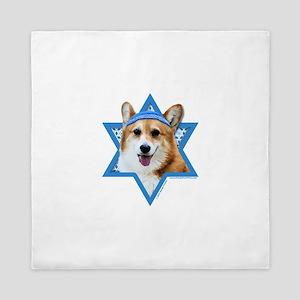 Hanukkah Star of David - Corgi Queen Duvet