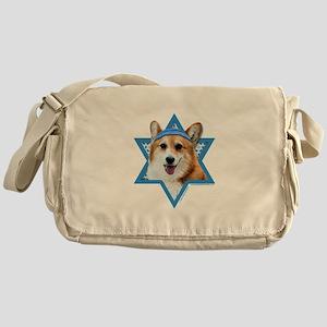 Hanukkah Star of David - Corgi Messenger Bag