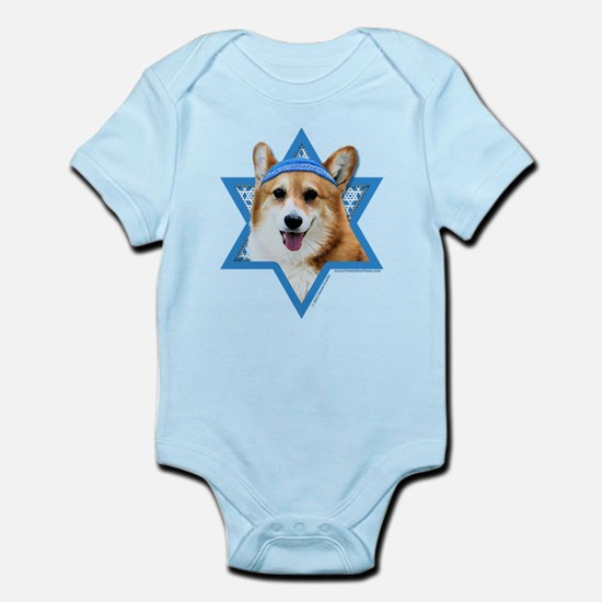 Hanukkah Star of David - Corgi Infant Bodysuit