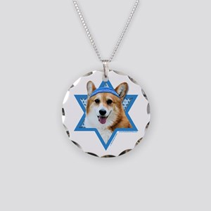 Hanukkah Star of David - Corgi Necklace Circle Cha