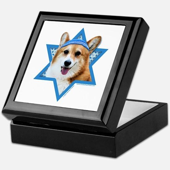 Hanukkah Star of David - Corgi Keepsake Box