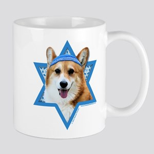 Hanukkah Star of David - Corgi Mug