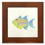 Queen Triggerfish Framed Tile